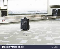 Lost Suitcase At Airport Baggage Claim Area Usa Stock Photo