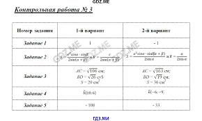 ГДЗ по геометрии класс Рурукин контрольные работы решебник Контрольная работа №1 Контрольная работа №2