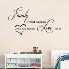Us 471 17 Offaw9283 Family Love Wall Stickers English Wall Quotes Vinyl Home Decor Decals Letter Decorative In Wall Stickers From Home Garden On