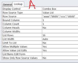 List Of Values Access Allow Value List Edits Stack Overflow