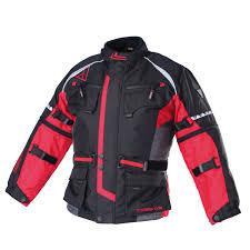 modeka textil jacket tourex kids motorcycle clothing jackets black red