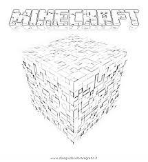 Disegno Minecraft Logo Misti Da Colorare