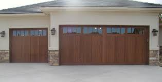 Delighful White Wood Garage Door Carriage House Style Doors Intended Impressive Design
