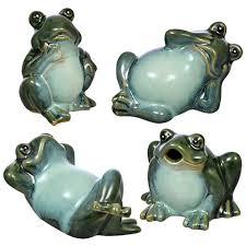 garden frog statue. + Whimsical Porcelain Garden Frog Statues Statue