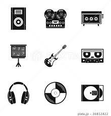 音楽 もの 材料 アイコンのイラスト素材 Pixta