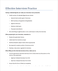 Interview Agenda Template - 5+ Free Word, PDF Documents Download ...
