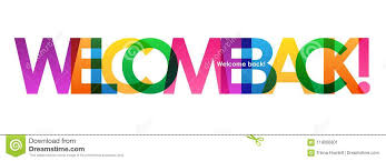 Welcome Back Graphics Welcome Back Colorful Overlapping Letters Vector Banner