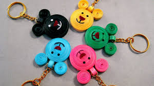 Quilling Chain Designs Paper Quilling Designs Beautiful Micky Mouse Key Chains