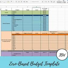 Budget Template Excel Download Monthly Budget Template Zero Based Budget Excel Download