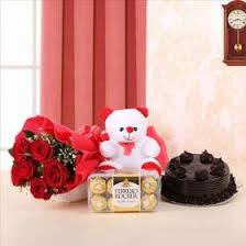 Happy Birthday Gift Teddy Bear Flowers Buy Online India Archies
