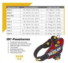 Julius K9 Power Harness Sizing Chart Julius K9 Idc Dog Powerharness Best Seller