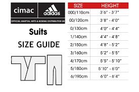 Adidas Chest Protector Sizing Chart Karate Clothing Adidas Giko Cimac
