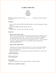 good cv examples for first job