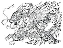 Detailed Dragon Coloring Pages Dragon Coloring Pages For Adults Real
