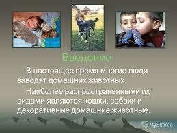 Презентация на тему Взаимоотношение животных с человеком  3 Введение