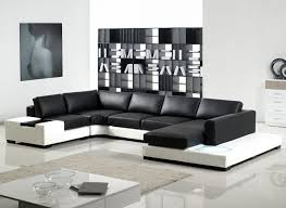 black and white modern furniture. U Shaped Sofa With Bookcase In Livivng Room Black And White Sofas Style Modern Furniture A