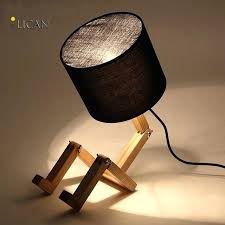 modern desk lamp wood table vintage solid study light office diy