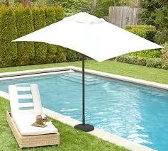 unbelievable best premium rectangular umbrella solid pottery barn throughout rectangle patio umbrella designs patio sets canada