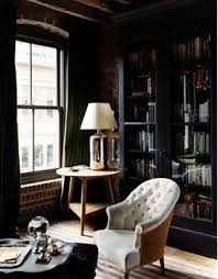 masculine office. masculine office with a cool muslin and burlap tufted chair