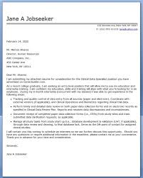 Example Cover Letter For Application Perfect Clinical Nurse
