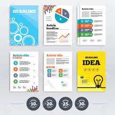 Brochure Design And A4 Flyers Sale Discount Icons Special Offer
