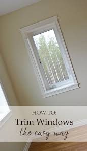 how to trim out windows and doors without a ton of cutting and diffe moulding pieces
