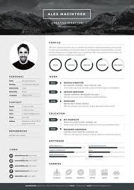 Illustrator Resume Templates Stunning Mono Resume Template By Wwwikonome 28 Page Templates 28 Icons