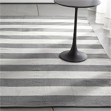 great striped runner rug olin grey striped cotton dhurrie rug crate and barrel