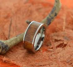 image is loading koa wood anium ring wedding band hawaiian fort