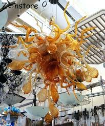 amber chandelier flower bubbles art glass lamp amber color glass hand blown glass chandelier led chandelier amber chandelier art