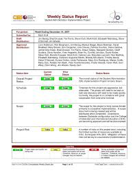 project weekly report format example of project status report and best status report format