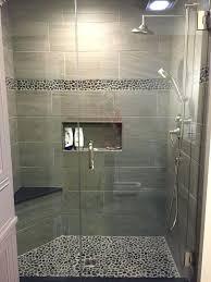 bathroom new bathroom shower ideas large charcoal black pebble tile border accent diy world map new