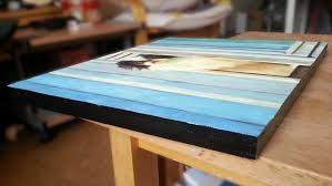 a cradled canvas panel showing the edges a painting on board