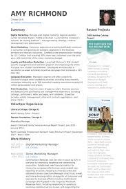 Marketing Resume Examples Extraordinary Digital Marketing Manager Resume Samples VisualCV Resume Samples