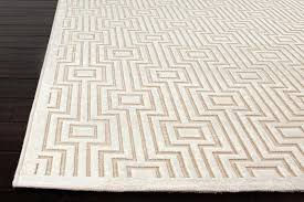 photo of fables collection valiant viscose and chenille area rug in cream design by rugs jaipur stripe area rug jaipur
