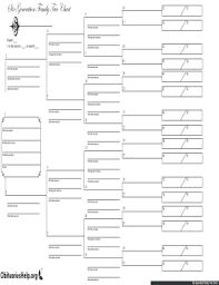 21 Printable Genealogy Chart Template Forms Fillable