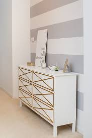 white-and-grey-striped-wall-white-dresser