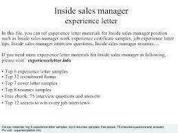 Inside Sales Resume Inside Sales Resume Inside Sales Sample Resume ...