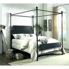 Black Metal Canopy Bed Frame Queen Home Improvement Neighbor Classic ...