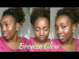 spring into summer bronze glow dark skin no foundation makeup tutorial beauty beauty