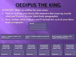 oedipus the king essay format ppt 11 oedipus