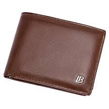 BOSTANTEN Men's Oil Wax <b>PU</b> Leather <b>Tri-fold</b> Wallets Zipper Coin ...