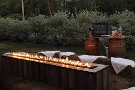 outdoor natural gas fireplace wall