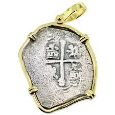 close spanish 1715 fleet shipwreck 4 reales pendant