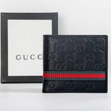 gucci black leather wallet designergu