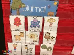 diurnal animals list for kids.  List Diurnal Animal Sorting Inside Animals List For Kids R