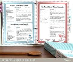 Recipe Binder Templates Recipe Book Template Pages