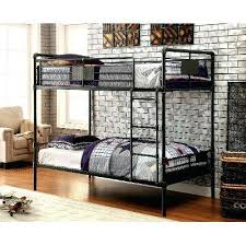 Bedroom Furniture Black Metal Casual Industrial Bunk Bed Alexander Tufted Wingback  Bed Talc