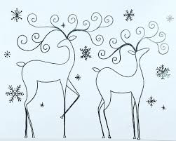 Free Printable Coloring Sheet Reindeer Traceable