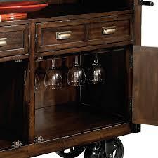 Industrial Bar Cabinet 695146 Howard Miller Rustic Distress Wine Bar Cart Console